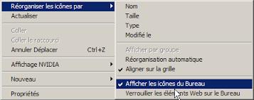 afficher les icones du bureau computer recovery dépannage maintenance assistance en