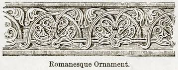 romanesque ornament illustration for blackie s modern cyclopedia