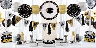 decorations for graduation black silver gold graduation decorations graduation party ideas