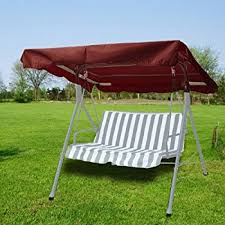 Patio Swing Covers Replacements Amazon Com Outdoor Patio Swing Canopy Replacement Color