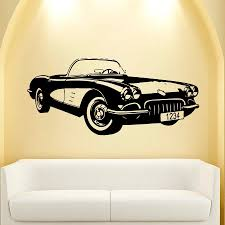 car vinyl wall decal old classic car auto home decor mural art car vinyl wall decal old classic car auto home decor mural art wall sticker boys bedroom removeable home decoration in wall stickers from home garden on