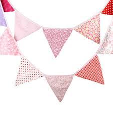 Wedding Flag High Quality Cotton String Flag Birthday Flags Photo Background