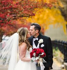 fall wedding classic fall wedding black and white with crimson roses