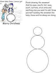 the snowman activity sheet worksheets sunday lesson finish