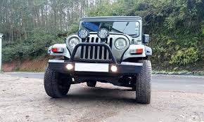 indian jeep mahindra ra customz fiber front wrangler grill for mahindra thar size