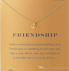 gold friend necklace images Wholesale with card silve and gold color cute dogeared necklace jpg