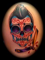 colorful skull couple tattoo on arm photos pictures and