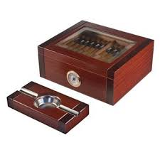 cigar gift set glass top cigar humidor and astray gift set the sovereign