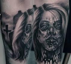 90 zombie tattoos for men masculine walking dead designs