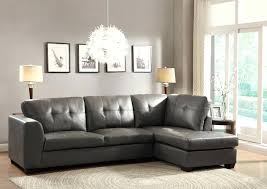Grey Leather Sectional Sofa Divani Casa Jasper Modern Light Grey Leather Sectional Sofa