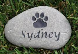 engraved memorial stones personalized memorial grave marker paw print 5 6 inch