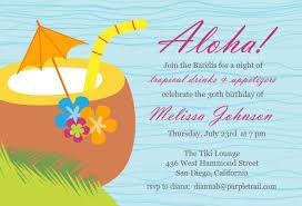 hawaiian birthday invitations luau birthday party invitation