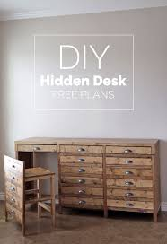 Build A Desk Plans Free by Best 25 Hidden Desk Ideas On Pinterest Woodworking Desk Plans