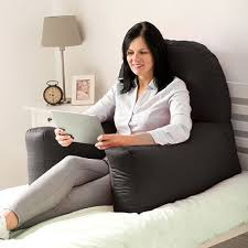 best pillow for watching tv in bed black cotton chloe bed reading pillow bean bag cushion arm backrest