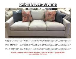 Couch Depth Barnett Furniture Average Size Sofa 84