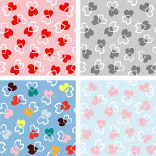 where to buy pretty wrapping paper seamless heart background in pretty colors great for