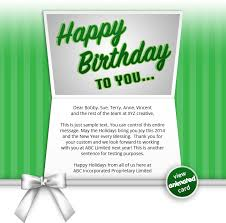 birthday ecards corporate birthday ecards employees clients happy birthday cards