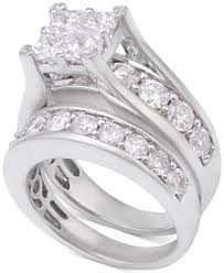 white gold wedding sets bridal set rings macy s