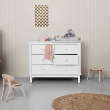 wood nursery dresser 6 drawers w top small white oliver furniture