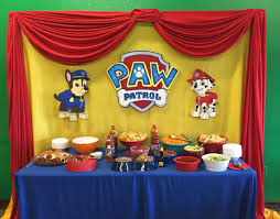 paw patrol candy table ideas paw patrol snack table sawyar s 2nd birthday party pinterest