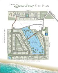 Map Of 30a Florida by Site Plan Cypress Dunes