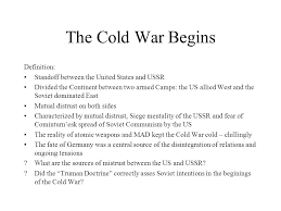 siege mentality definition the cold war begins definition standoff between the united states