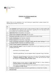 ideas collection cover letter for german national visa sample