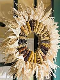 Corn Stalk Decoration Ideas Indian Corn Decorations Decorating With Indian Corn For Thanksgiving