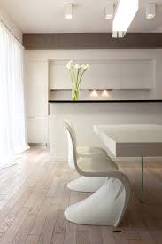 scandinavian home decor with awesome modern white dining table