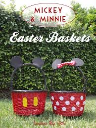personalized mickey mouse easter basket 60 diy easter basket ideas for 2017