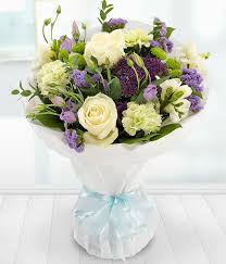 vintage bouquet simply vintage white roses and purple flowers