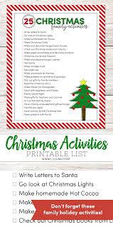 25 christmas family activities lil u0027 luna