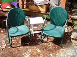 Metal Patio Furniture Paint - vintage metal outdoor patio tulip chairs outdoor metal patio arm