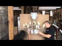 Chandelier Removal Chandelier Packing Pack N Send Houston Texas Youtube