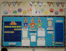 reflective calendar in the preschool room classroom photos