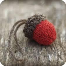 knit acorn ornament pattern rustic