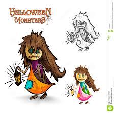 cartoon halloween monsters