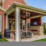 25 Best Covered Patios Ideas On Pinterest Outdoor Covered by Amazing Decor Backyard Covered Patio With Fireplace 25 Best