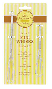 Baking Whisk by Mrs Anderson U0027s Baking Mini Whisk Set Of 2