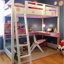 Loft Beds With Futon And Desk Bedroom Large Floating Desk Twin Size Bed Over Bunk Wood Loft