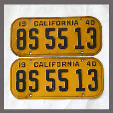 1940 california yom license plates for sale original vintage