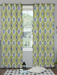 Multi Colored Curtains Drapes Two Panels Neoclassical Designer Floral Botanical Multi Color