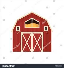 barnhouse red barn house icon isolated on stock vector 599583986 shutterstock