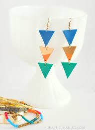 diy drop earrings handmade clay aztec drop earrings