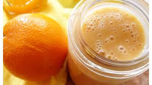 delicious orange jam summer breakfast