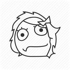 Ponder Meme - derp derpina emotion funny meme ponder sad icon icon search