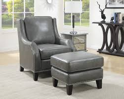 Accent Chair With Ottoman Grey Leatherette Accent Chair Ottoman Caravana Furniture