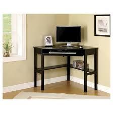 Black Computer Desk Mibasics Erona Modern Corner Computer Desk Black Target