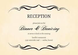 wedding reception card wedding reception card wording lilbibby