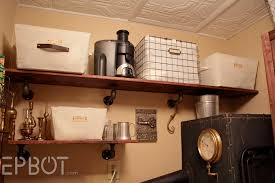 How To Make A Pipe Bookshelf Epbot Easy Diy Industrial Pipe Shelving